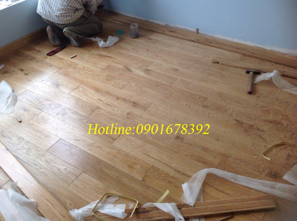 sàn gỗ sồi trắng tự nhiên